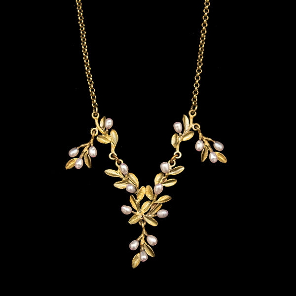 Flowering Thyme Drop Necklace