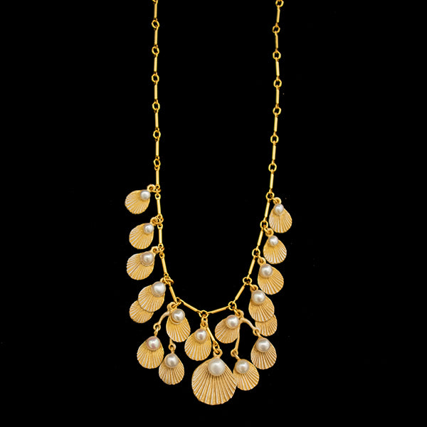 Sea Scallop Statement Necklace