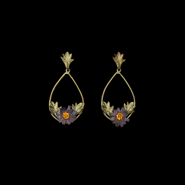 Aster Oval Drop Post Earrings