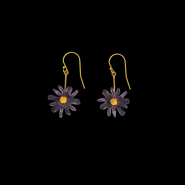Aster Single Drop Wire Earrings