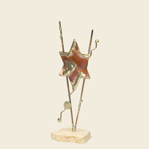 Copper Star Sculpture