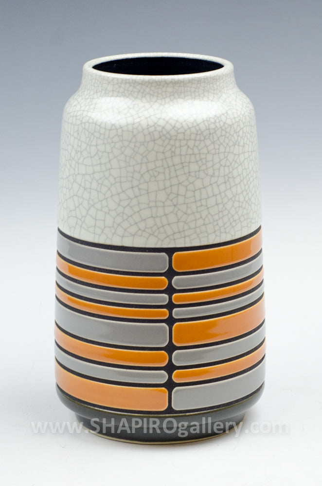 Striped Vase - Orange