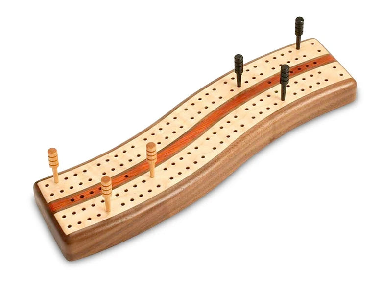 S Curve Cribbage Board