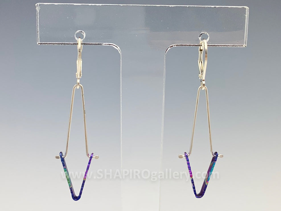 Sterling SIlver and Niobium Earrings