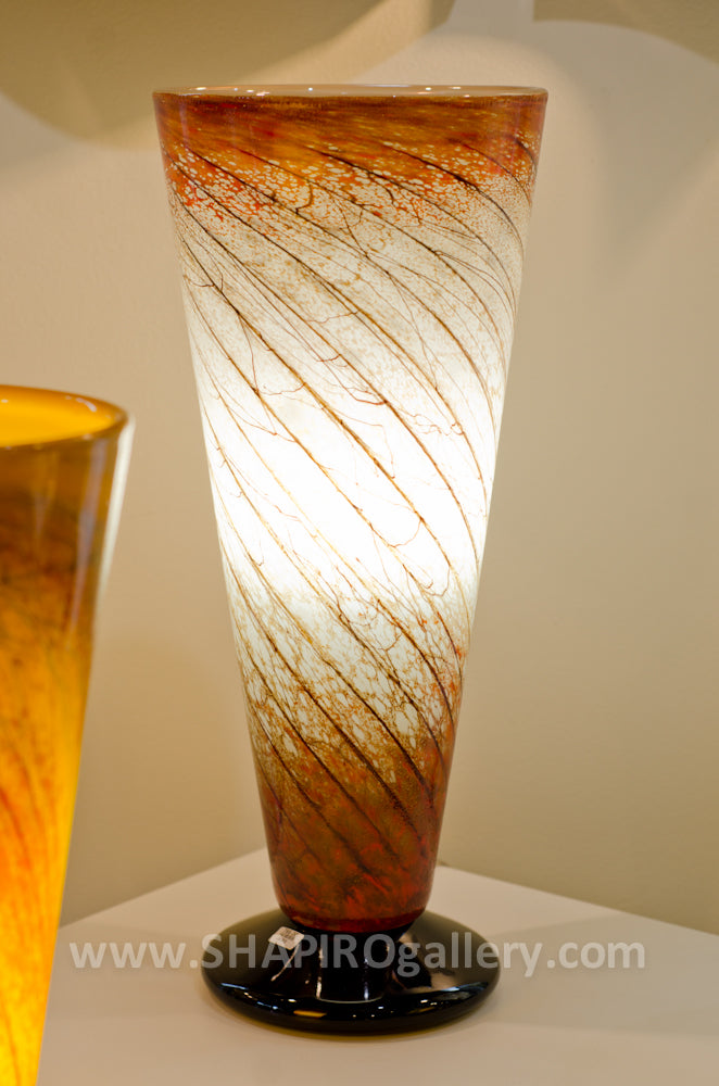 Rubies Blown Glass Lamp