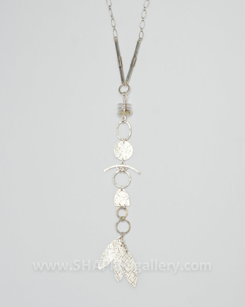 Sterling Silver Y Drop Necklace