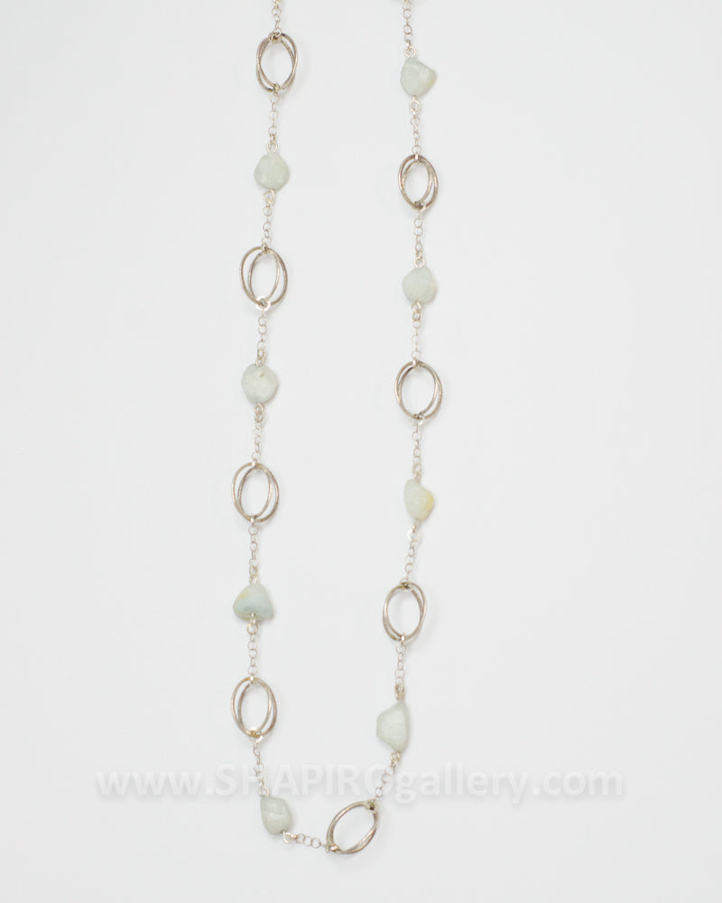 Long Aquamarine Necklace
