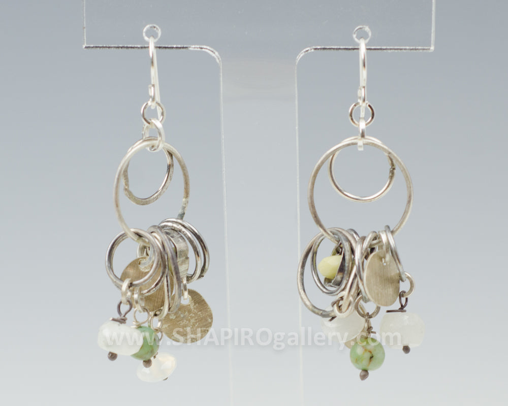 Stone Cluster Ring Earrings