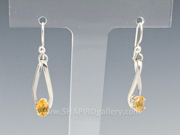 Citrine Loop Earrings