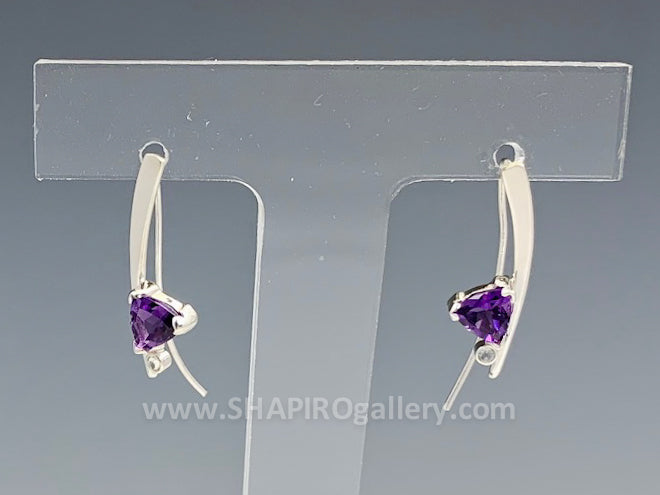 Amethyst Curve Earrings