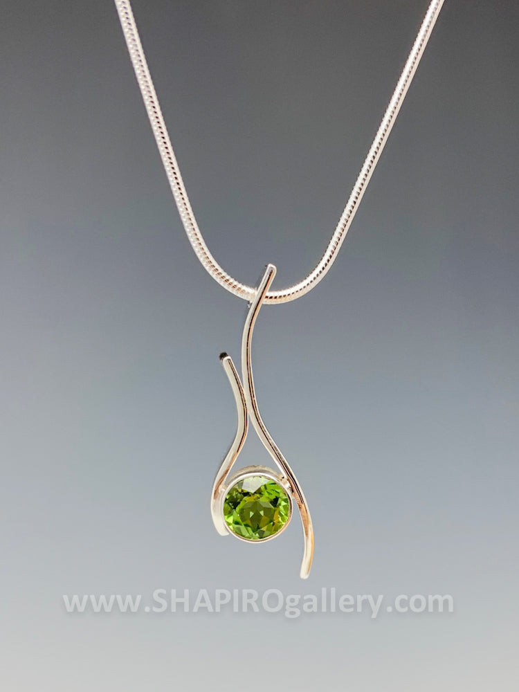 Peridot Squiggle Necklace