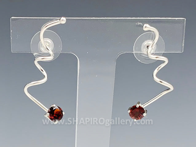 Garnet Spring Earrings
