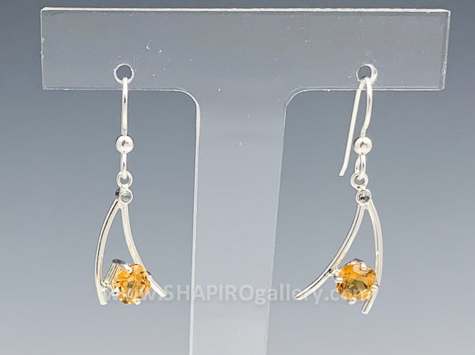 Citrine Whoosh Earrings