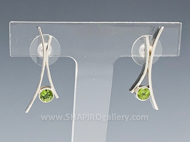 Peridot Whisp Post Earrings