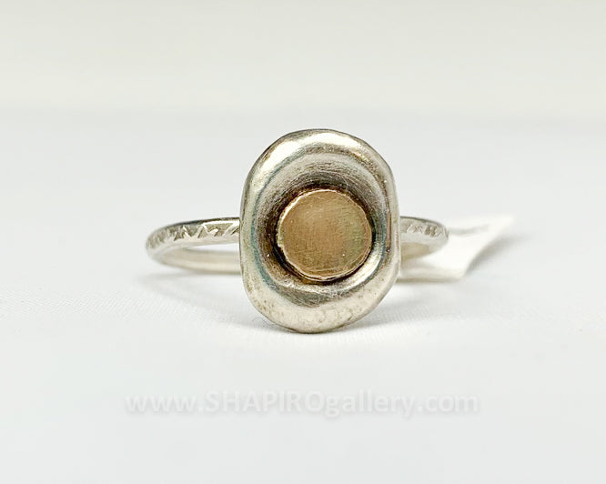 Silver and Gold Mix Ring
