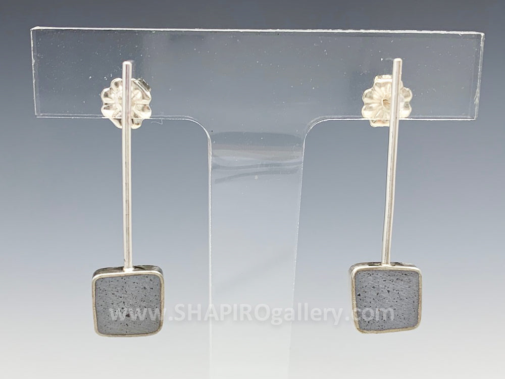 Square Drop Concrete Earrings
