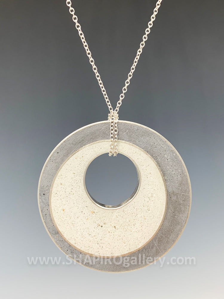 Large Circle Concrete Necklace