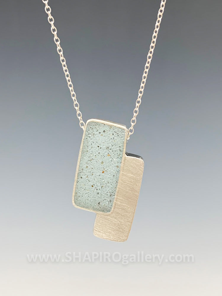 Double Rectangle Concrete Necklace