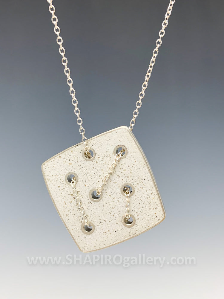 Random Square Concrete Necklace