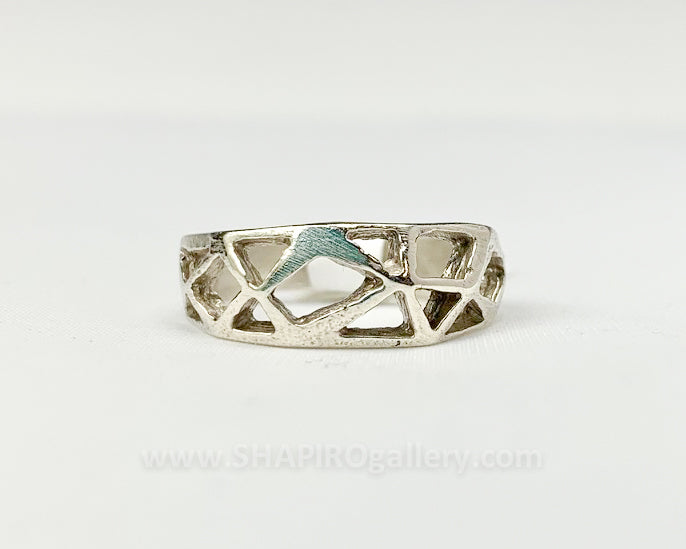 Cutout Sterling Silver Ring