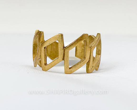 Cutout Yellow Brass Ring