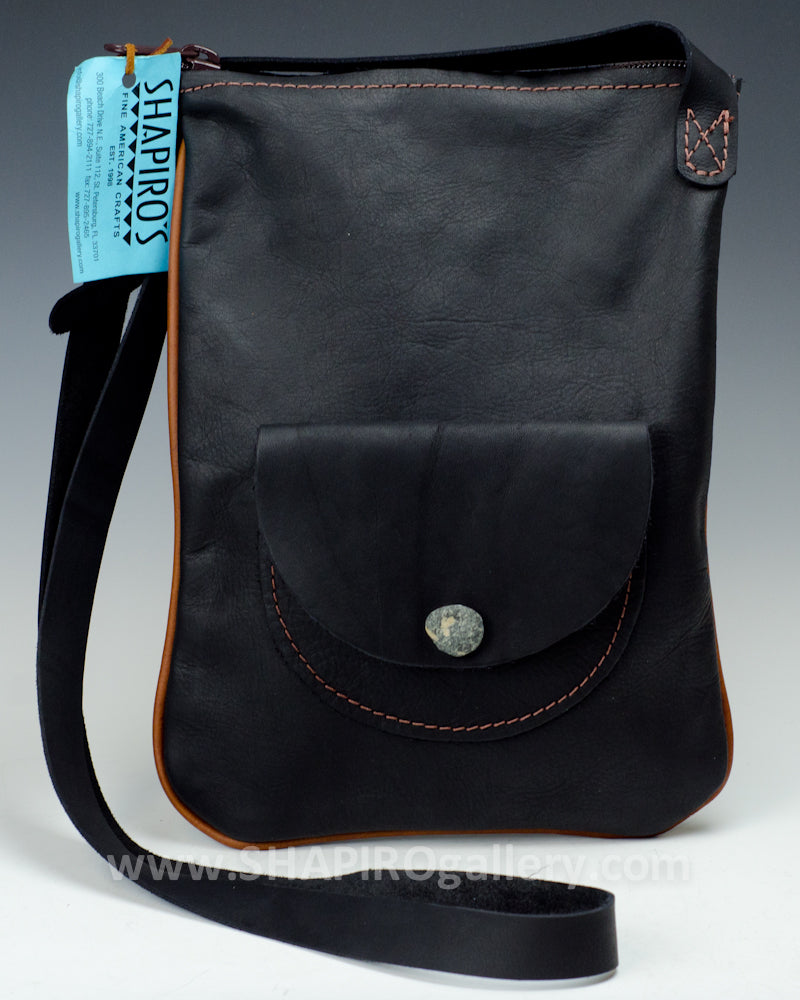 Tablet Vertical Side Bag - Black