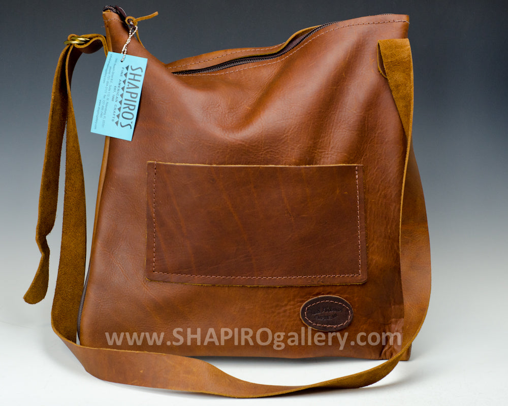 Zip Tote Side Bag - Brown