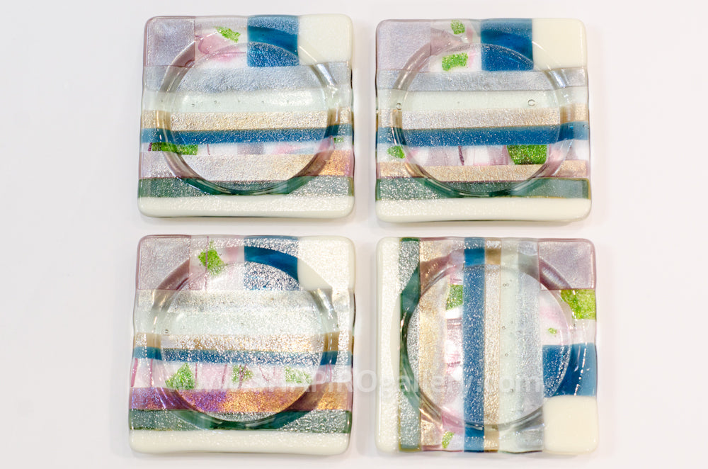 Earth Glass Coasters