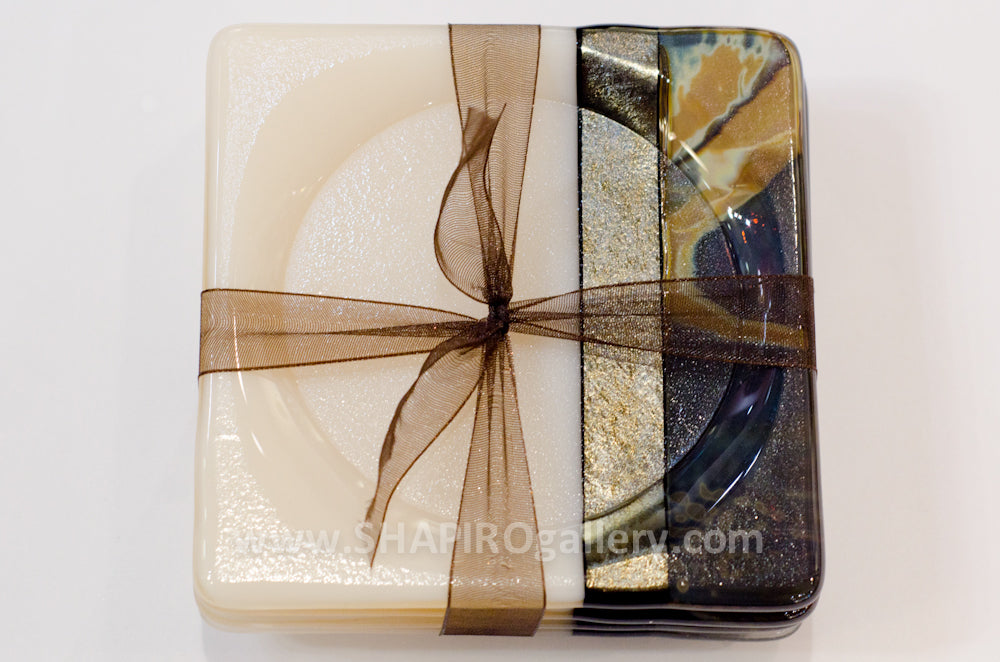 Desert Sand Glass Coasters