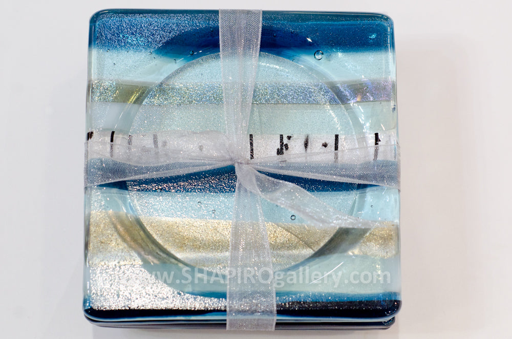 Blue Jay Glass Coasters