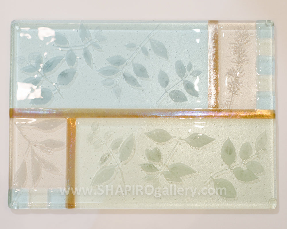 Watercolors Small Glass Charcuterie Tray