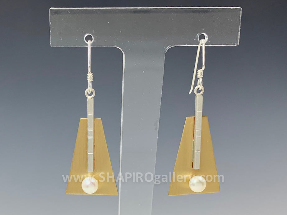 Trapezoid Drop Earrings