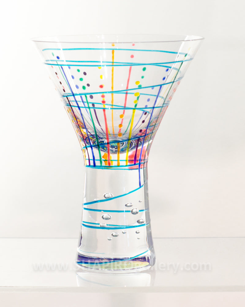 Handpainted Martini Glass (multiple colors available)