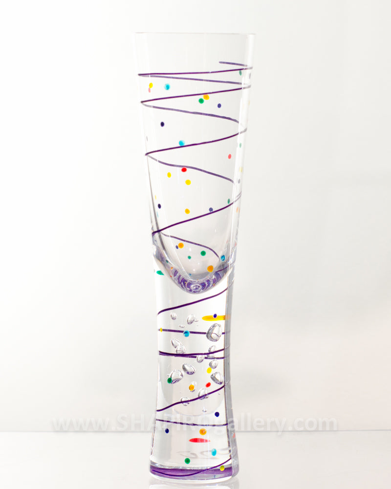 Handpainted Champagne Flute (multiple colors available)