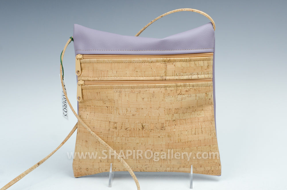 Double Zip Crossbody - Lilac