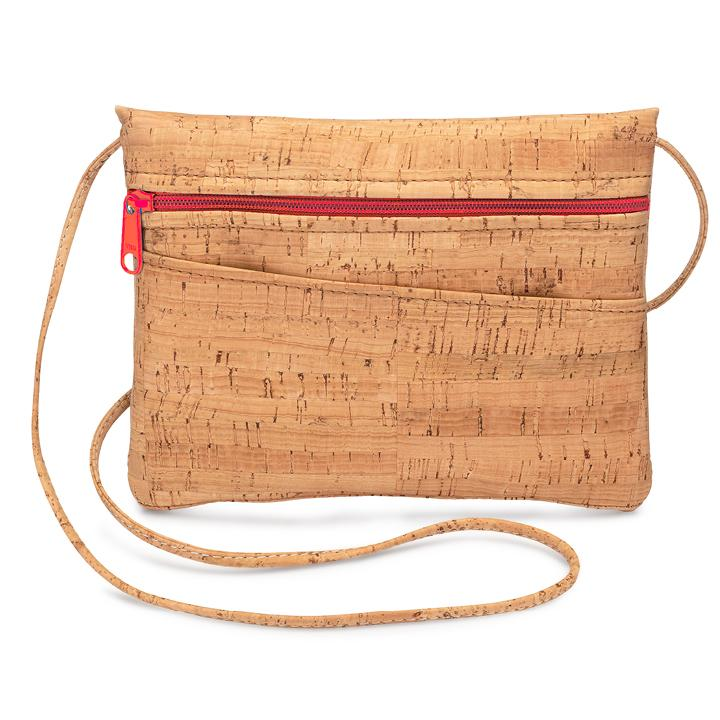 Crossbody Hip Bag Red Zip