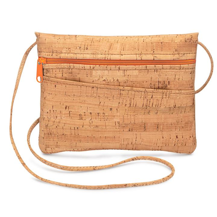 Crossbody Hip Bag Orange Zip