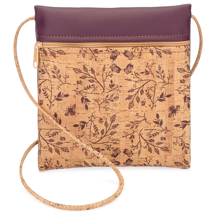 Cross Body Bag Wine Floral