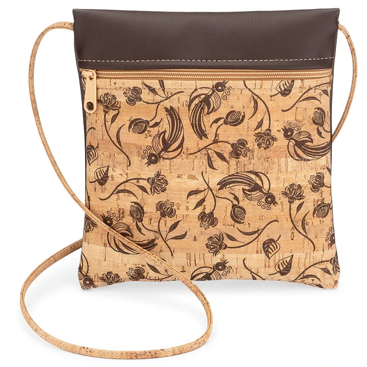 Cross Body Bag Brown Floral