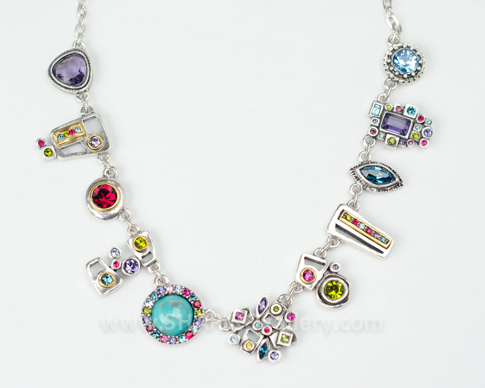 Push & Pull Necklace in Fling