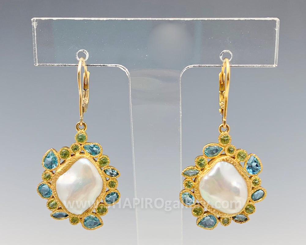 One of a Kind Baroque Pearl Earrings