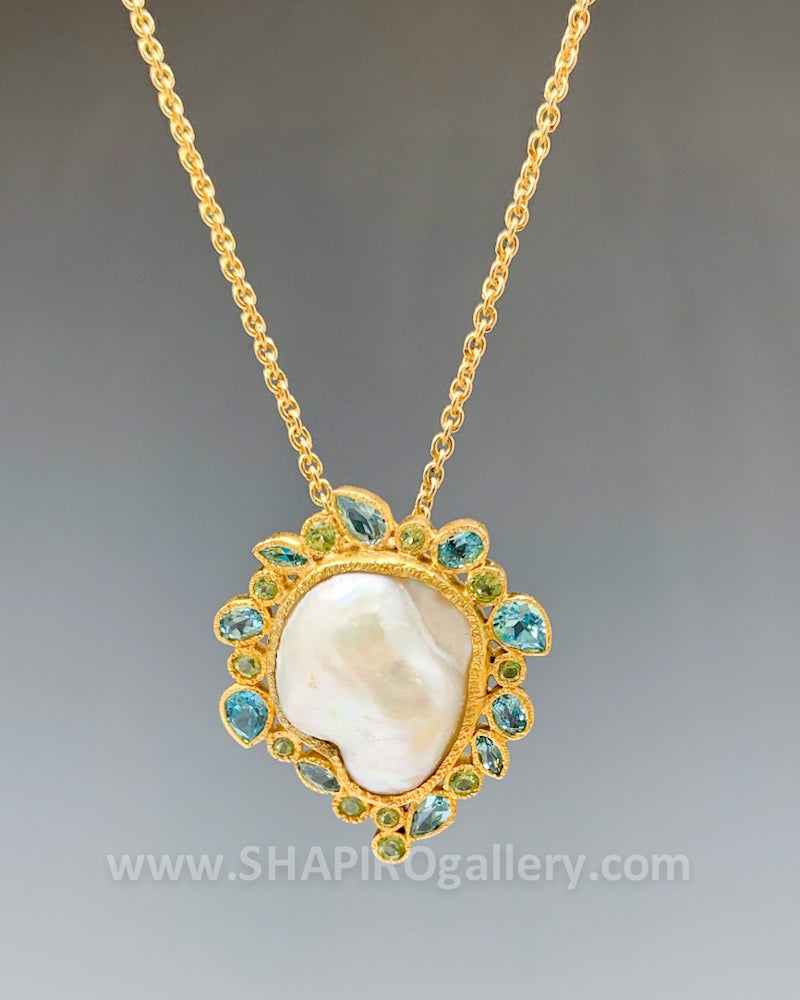 One of a Kind Baroque Pearl Necklace