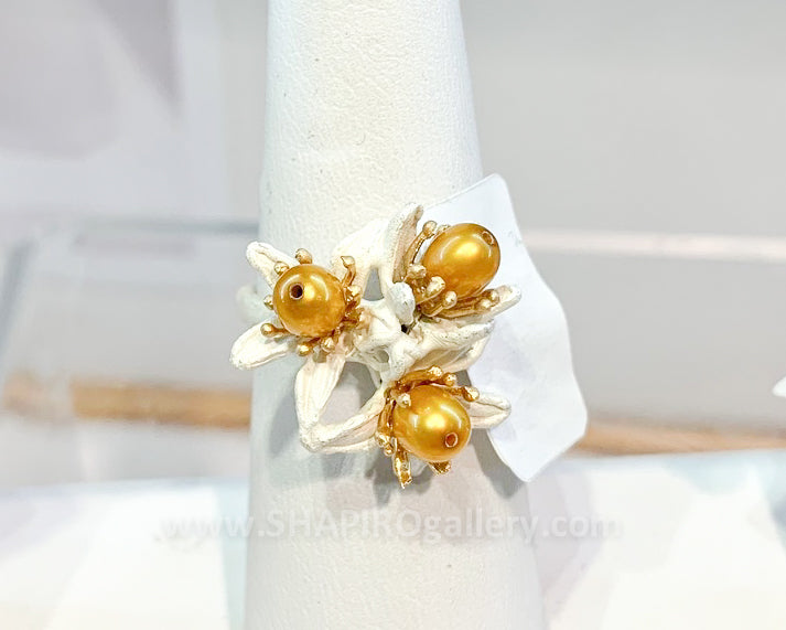Orange Blossom Cluster Ring