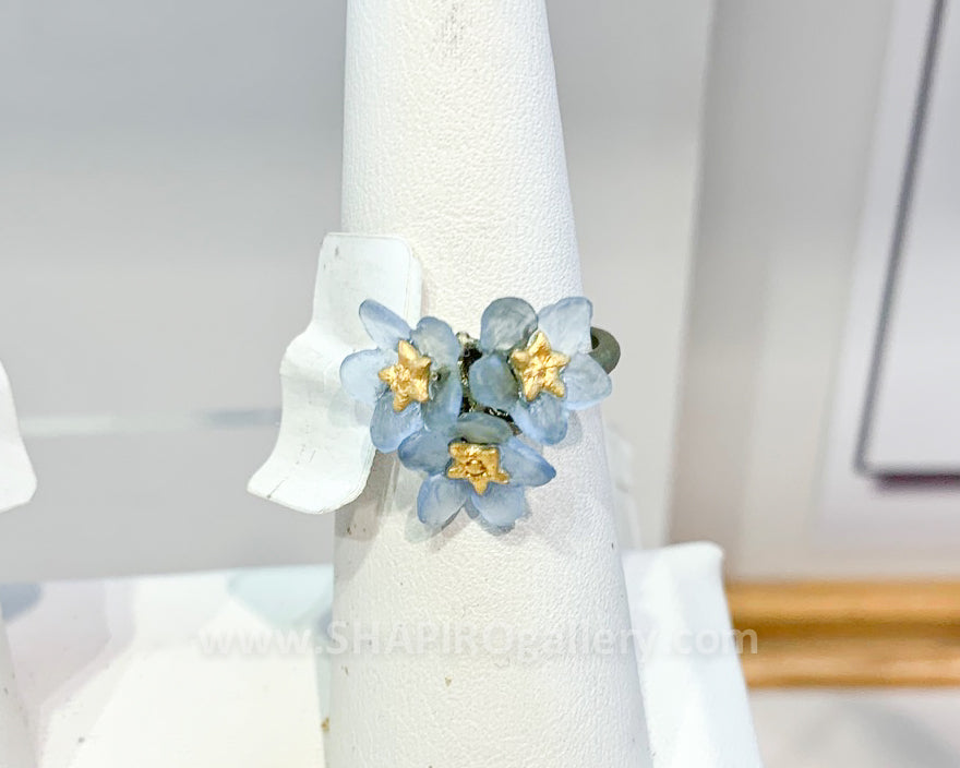 Forget-Me-Not Cluster Ring