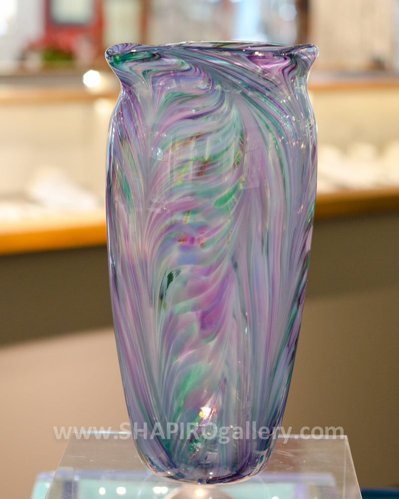 Cool Mix Blown Glass Vase