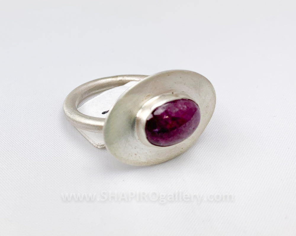 Ruby in Zoicite Ring