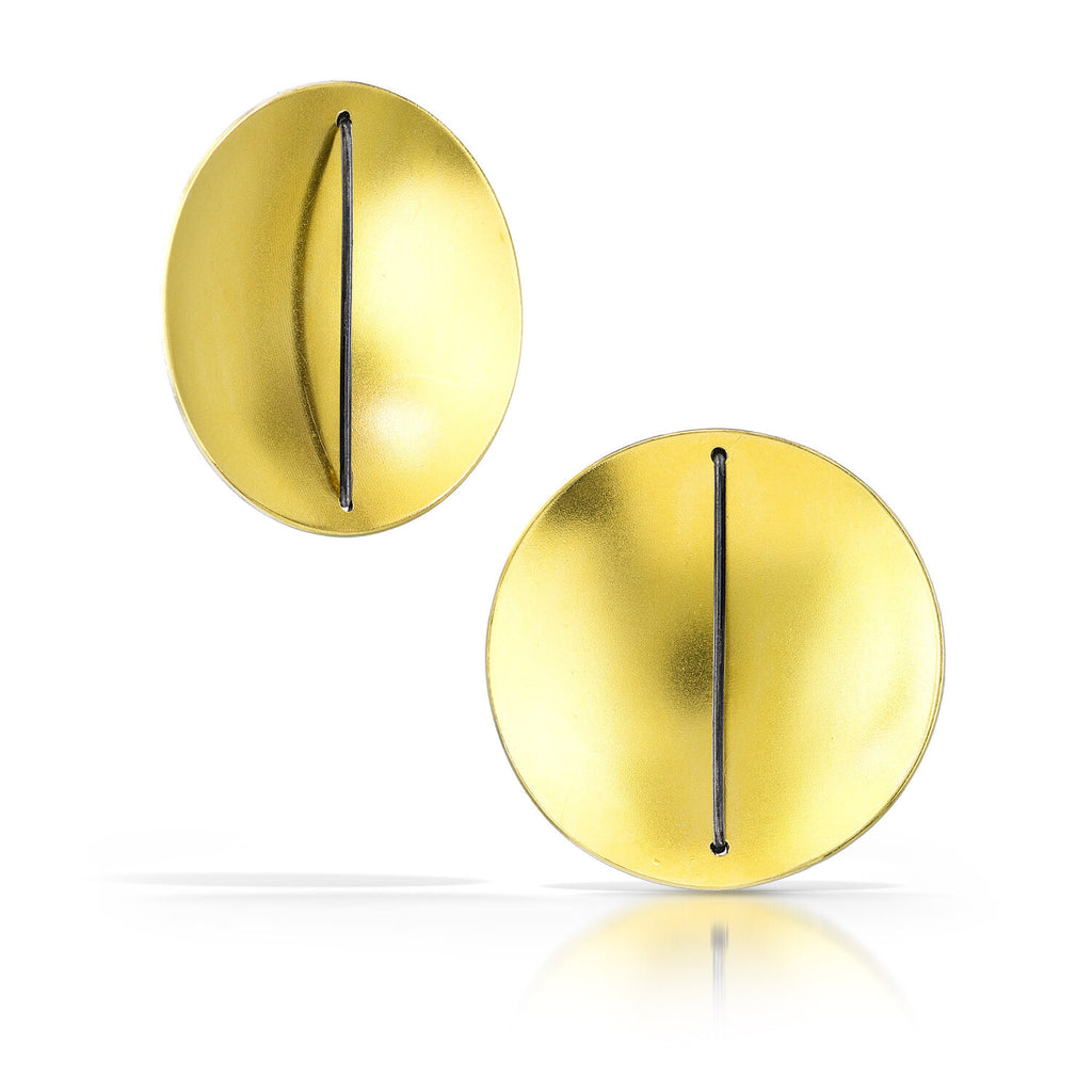 Gold Simple Circle Earring
