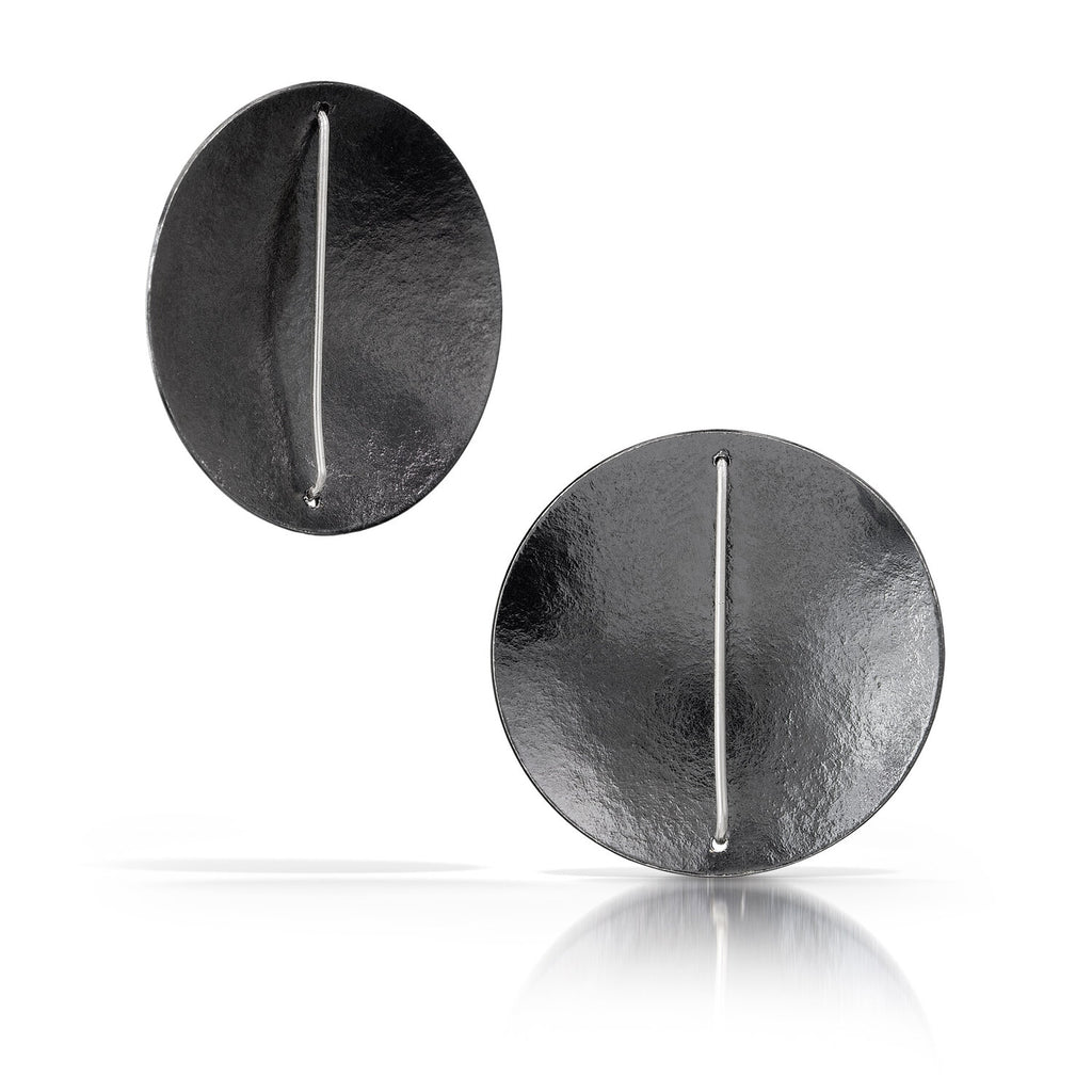 Simple Circle Earring Oxidized