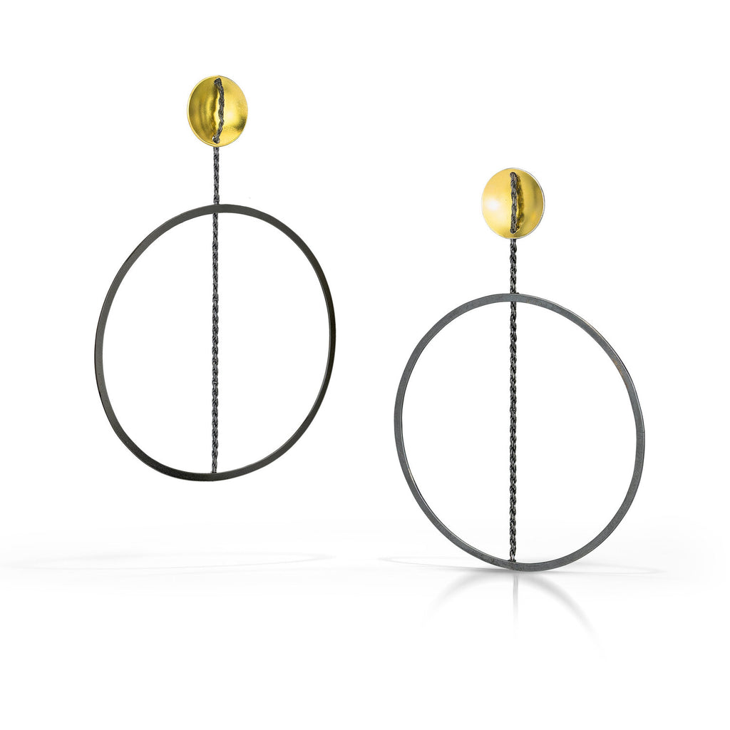 Hoop Earring with 22k