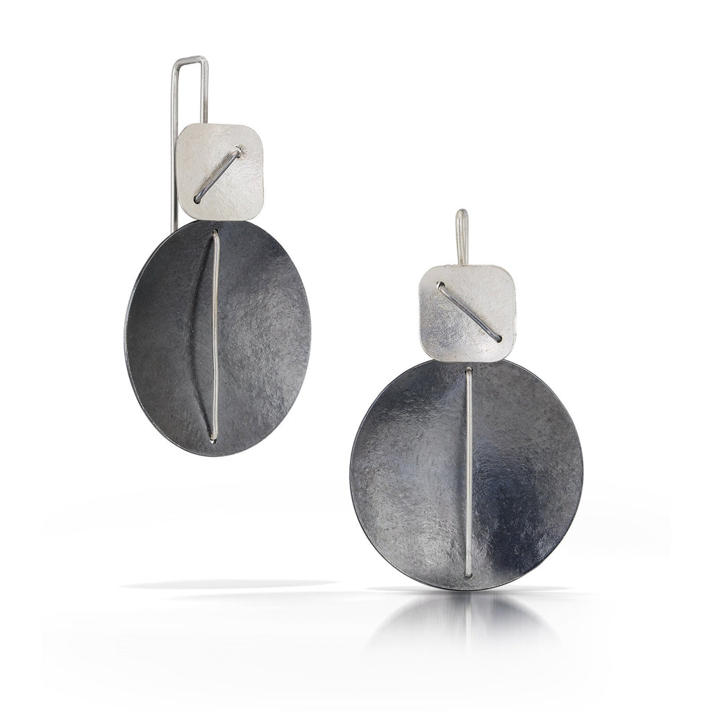 Circle and the Square Hanging Earring
